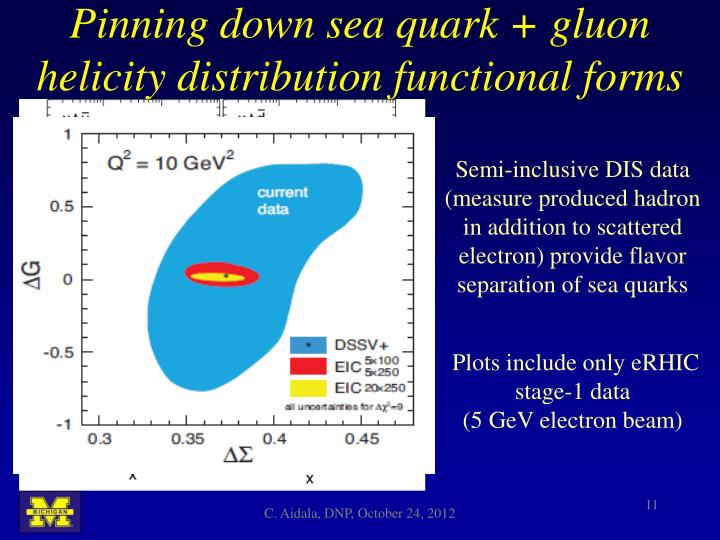 Pinning down sea quark + gluon