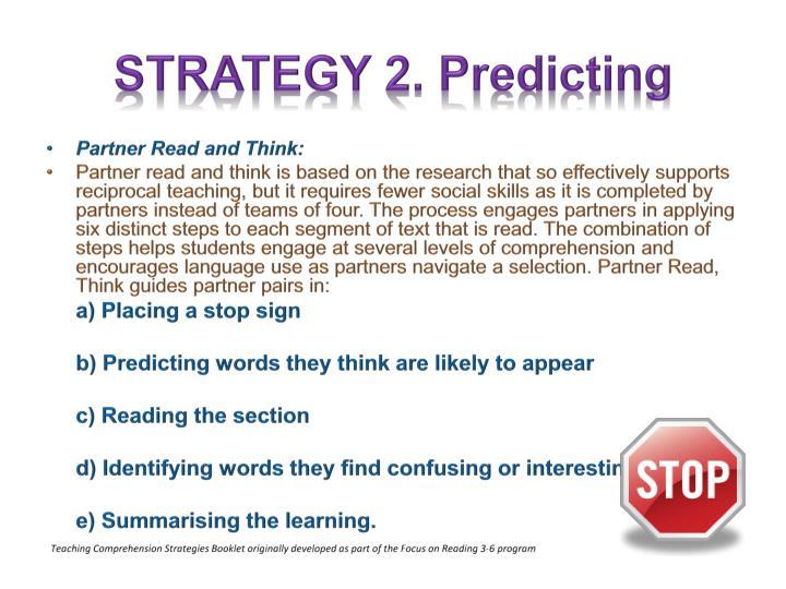 STRATEGY 2. Predicting