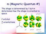 m magnetic quantum3
