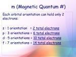 m magnetic quantum4