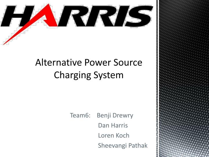 Alternative power source charging system