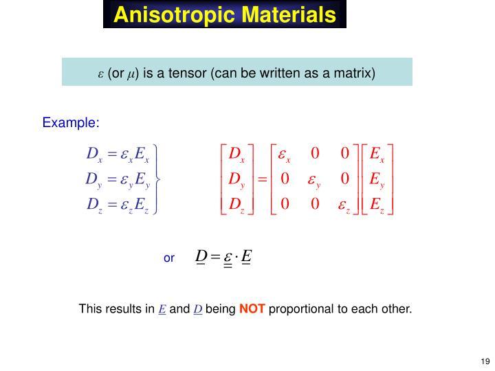 Anisotropic Materials