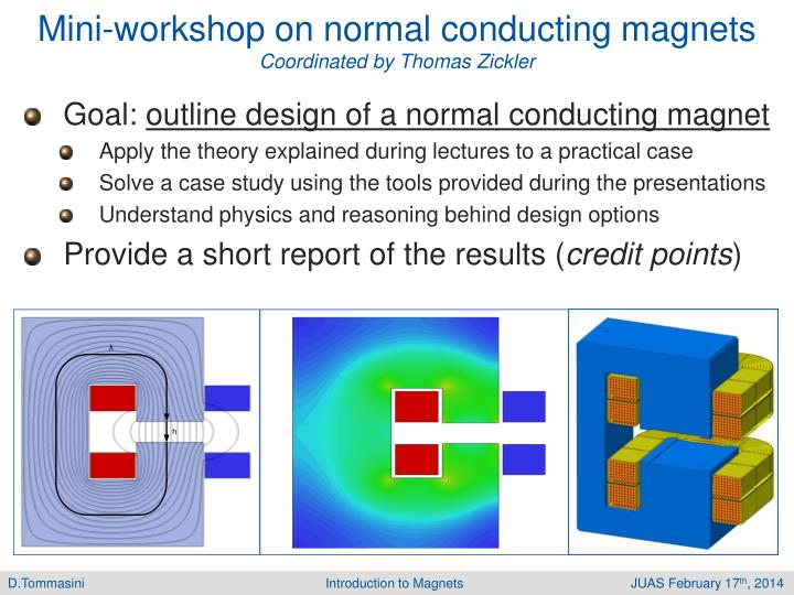 Mini-workshop on normal conducting magnets