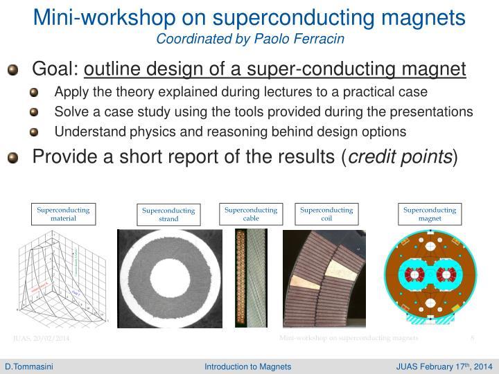 Mini-workshop on superconducting magnets