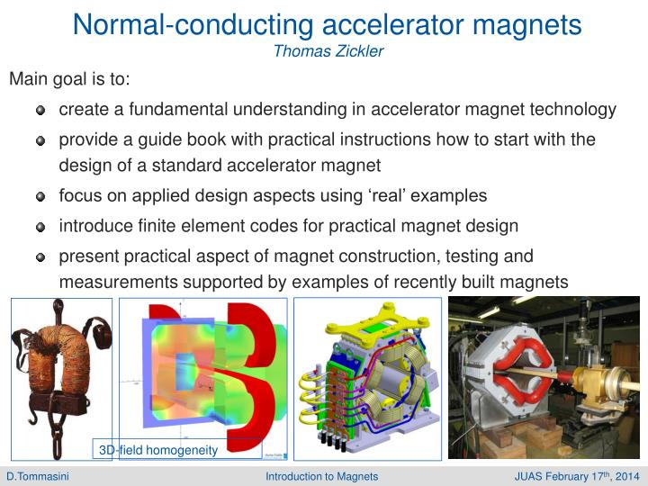 Normal-conducting accelerator magnets