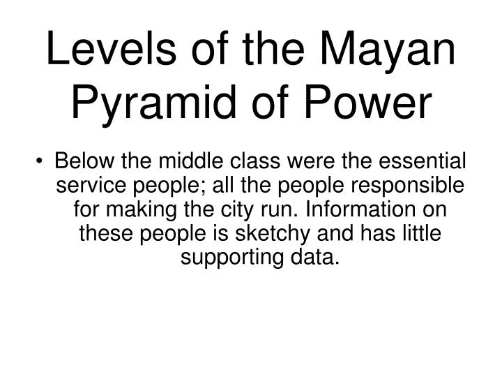 Levels of the Mayan Pyramid of Power