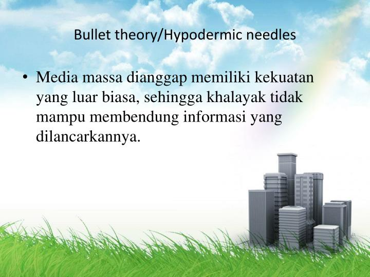 Bullet theory/Hypodermic needles