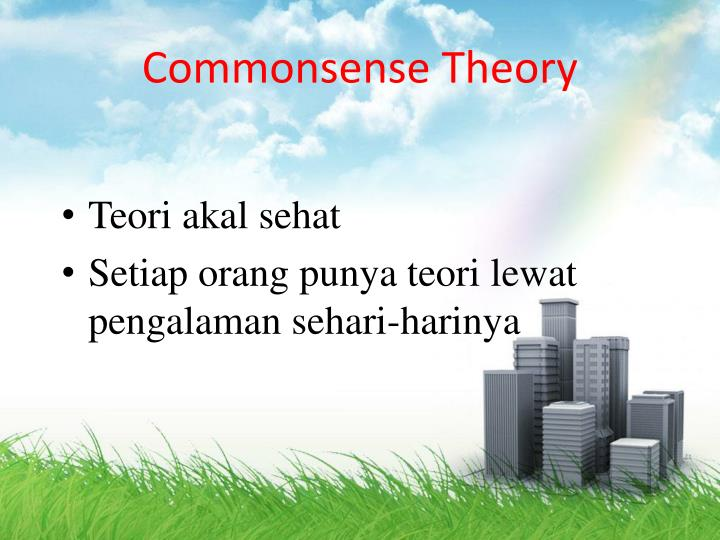 Commonsense Theory