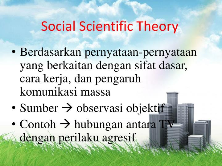 Social scientific theory