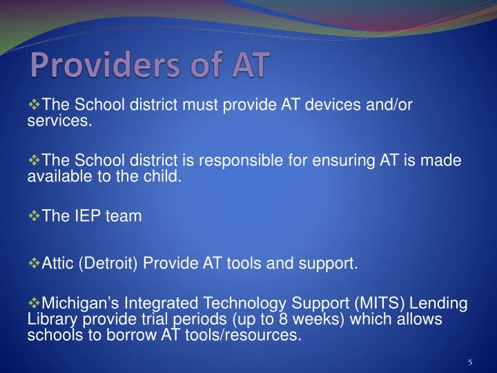 Providers of AT