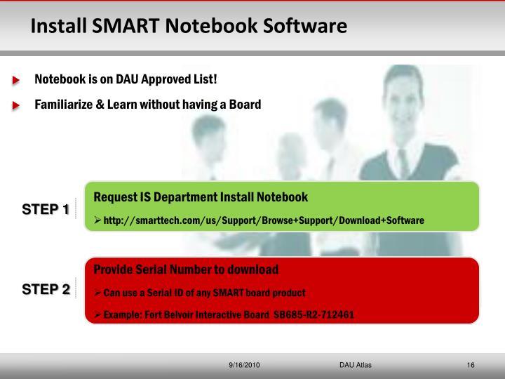 Install SMART Notebook Software