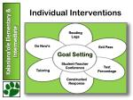 individual interventions