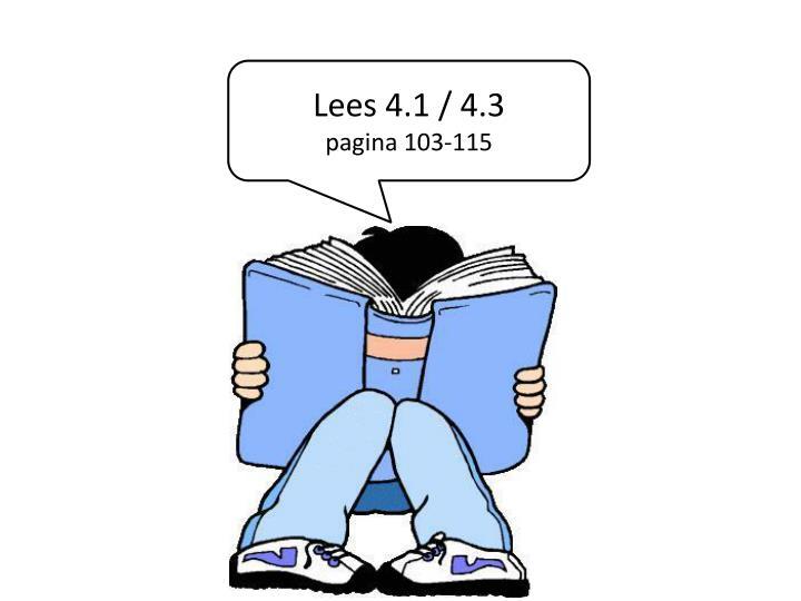 Lees 4.1 /