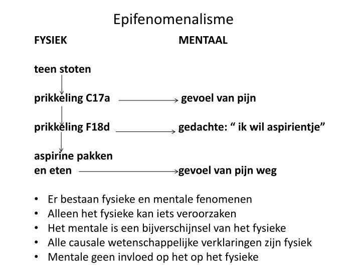 Epifenomenalisme