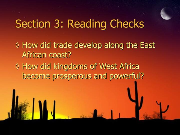 Section 3: Reading Checks