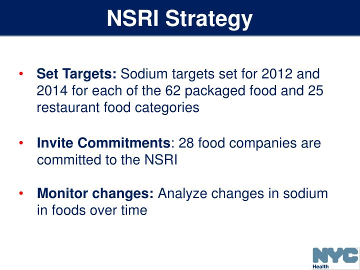 NSRI Strategy
