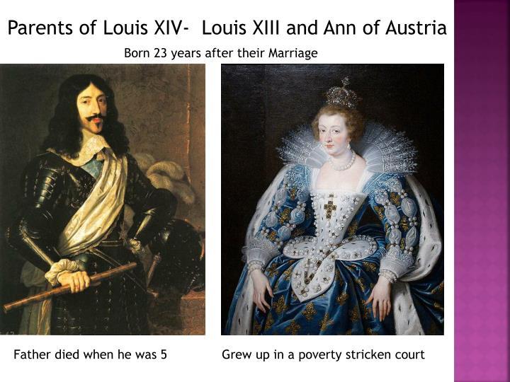 Parents of Louis XIV-