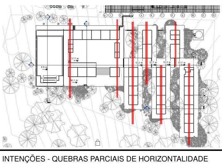 INTENÇÕES - QUEBRAS PARCIAIS DE HORIZONTALIDADE