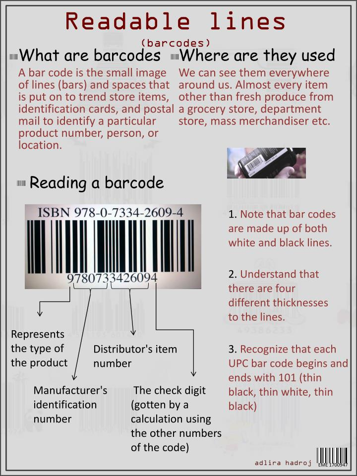 readable lines barcodes n.