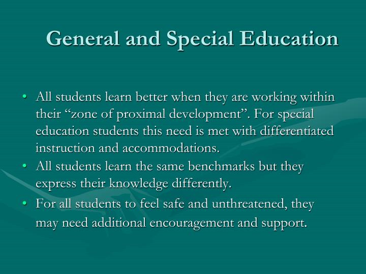 General and Special Education