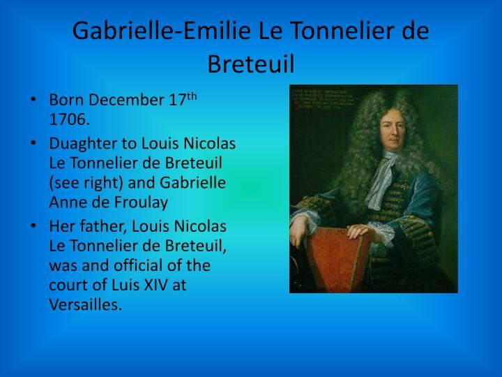 Gabrielle emilie le t onnelier de breteuil