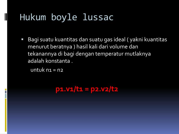 Hukum boyle lussac