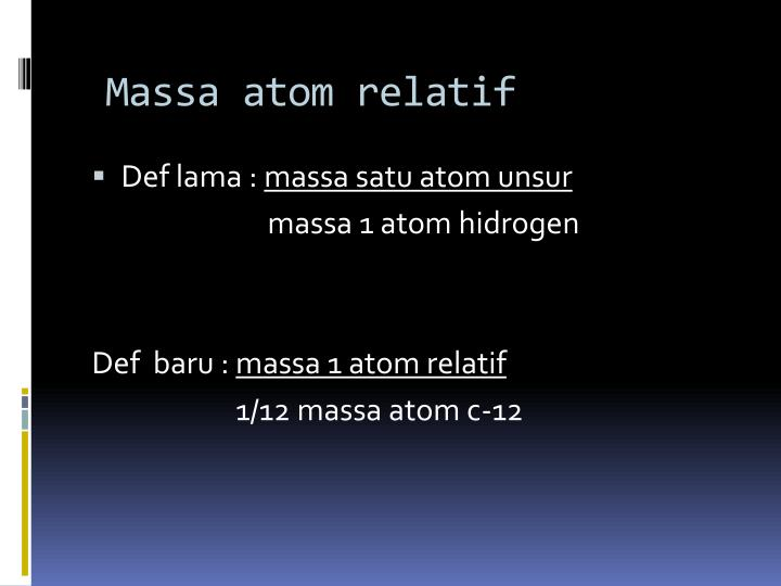Massa atom relatif