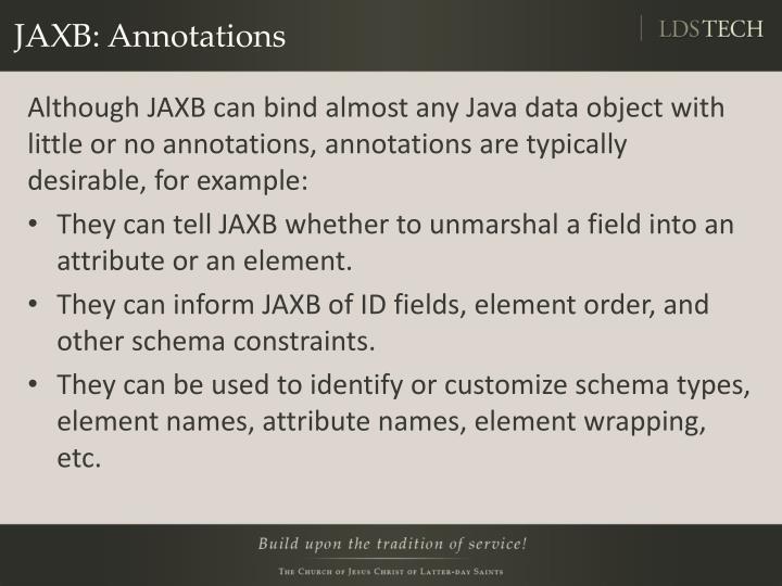JAXB: Annotations