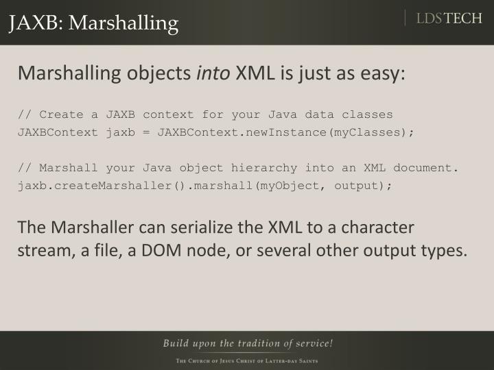 JAXB: Marshalling