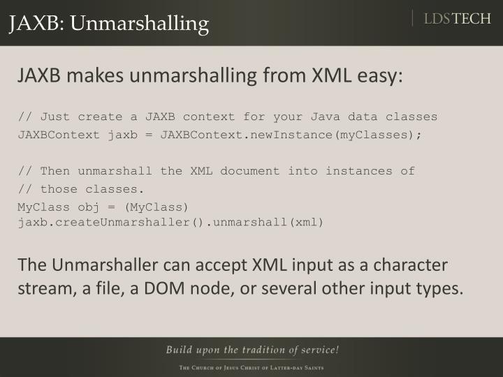 JAXB: Unmarshalling