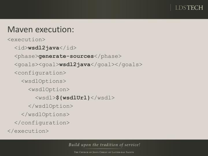 Maven execution: