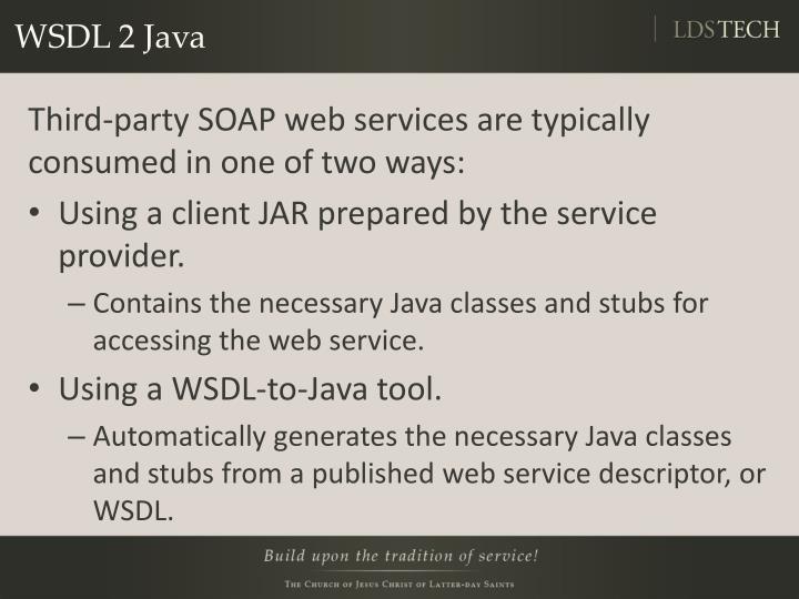WSDL 2 Java