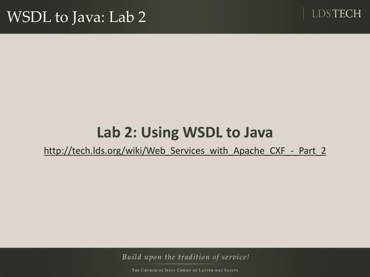WSDL to Java: