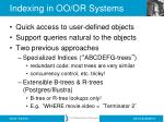 indexing in oo or systems