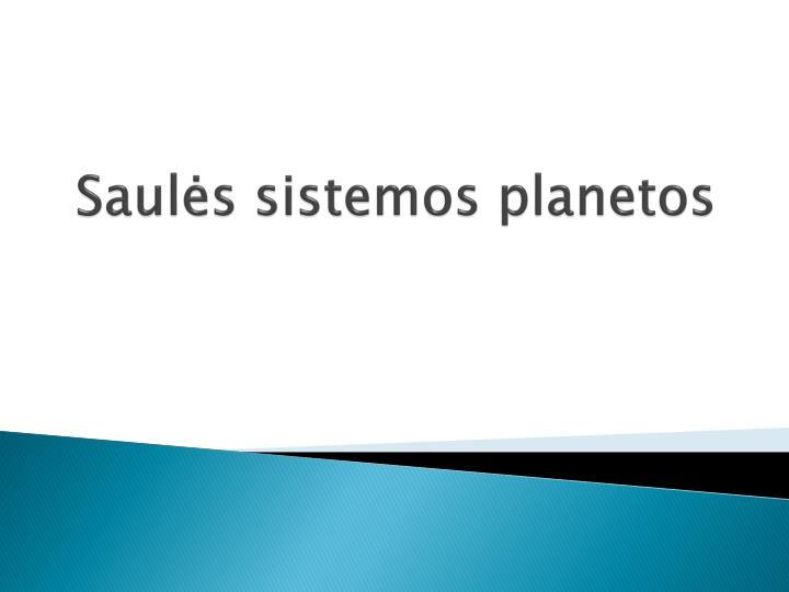 Saul s sistemos planetos