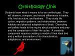 ornithology unit