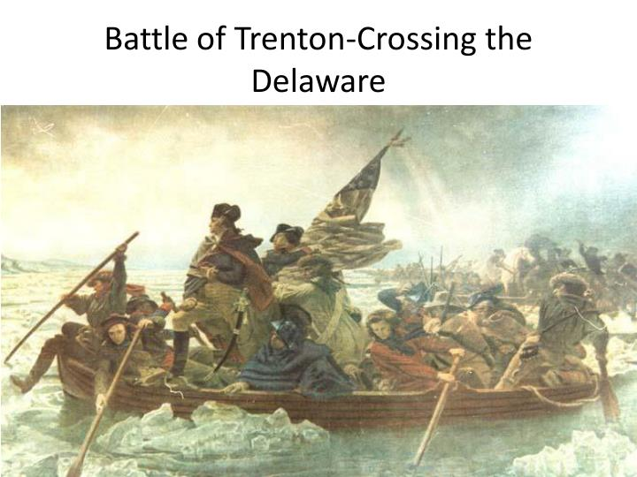 Battle of Trenton-Crossing the Delaware