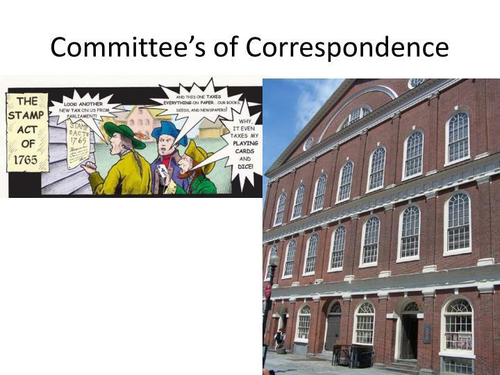Committee's of Correspondence
