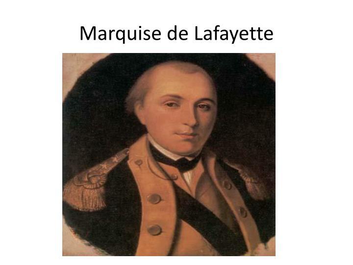 Marquise de Lafayette