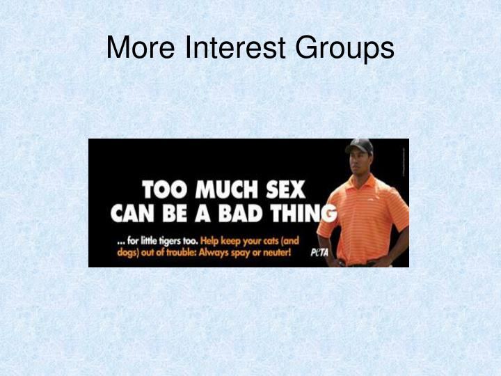 More Interest Groups