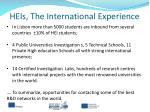 heis the international experience
