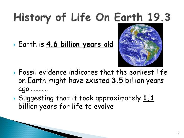 History of Life On Earth 19.3