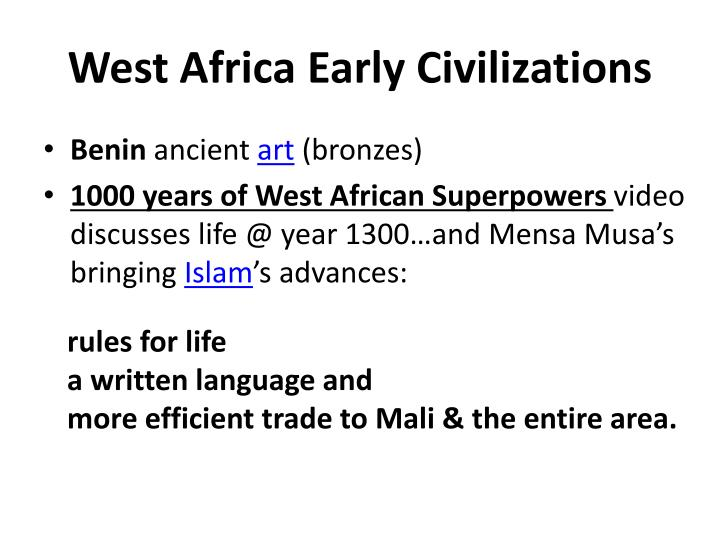 West Africa Early Civilizations