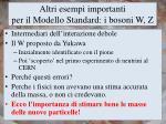 altri esempi importanti per il modello standard i bosoni w z