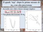 il quark top d opo le prime misure di m z con alta precisione