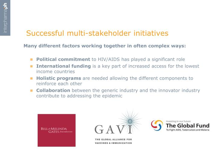 Successful multi-stakeholder initiatives