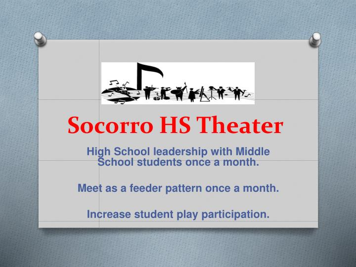Socorro hs theater