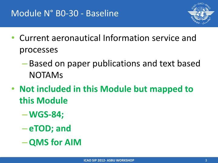 Module n b0 30 baseline