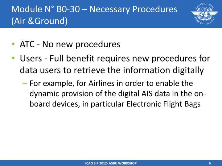 Module N° B0-30 – Necessary Procedures (Air &Ground)