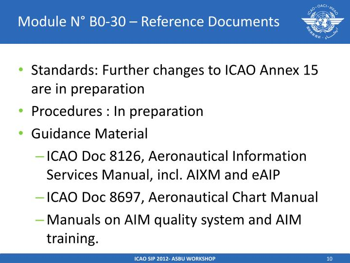 Module N° B0-30 – Reference Documents